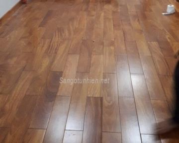 Công trình sàn gỗ Lim Nam Phi Chung cư E4 Tower Yên Hòa quận Cầu Giấy